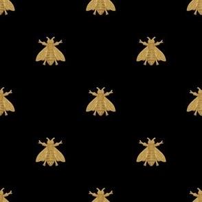 Napoleonic Bees ~ Faux Gilt on Blackest Black