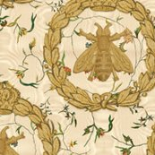Rnapoleonic_bees___queen_bee____gilt_on_cecile_embroidered_chintz___gypsophila_moire_l__peaocoquette_designs___copyright_2016_shop_thumb