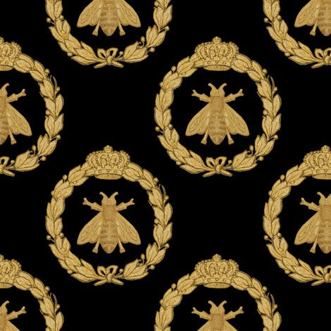 Rnapoleonic_bees___queen_bee___black___peaocoquette_designs___copyright_2016_shop_preview