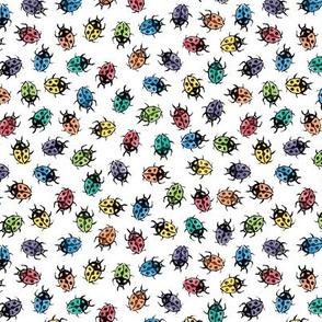 ditsy rainbow ladybugs