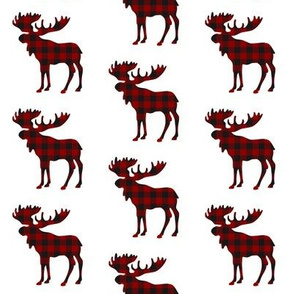 Buffalo Plaid Moose