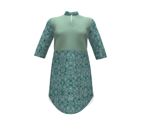 Dreamscape 5 - pastel moss green solid,  pastel teal green