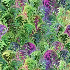 Marbelized Paper Green/Multi