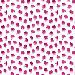 Watercolor Spots in Raspberry Small