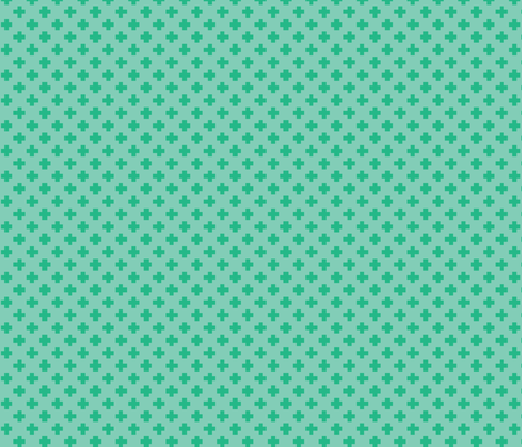 Mint Tiny Crosses fabric by surlysheep on Spoonflower - custom fabric