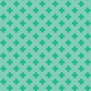 Mint Tiny Crosses
