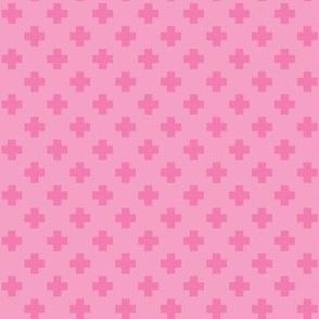 Bubblegum Tiny Crosses