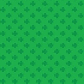 Emerald Tiny Crosses