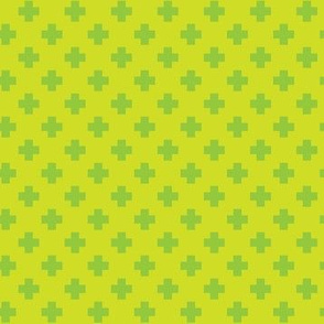 Lime Tiny Crosses
