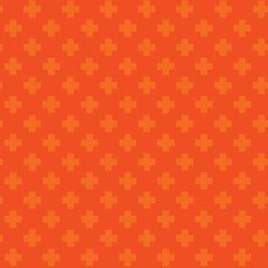 Orange Tiny Crosses