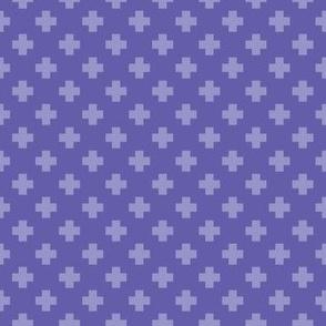 Periwinkle Tiny Crosses