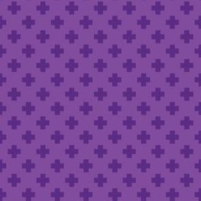 Purple Tiny Crosses
