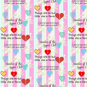 Heart Hero Fabric/ Bold Pink Stripe