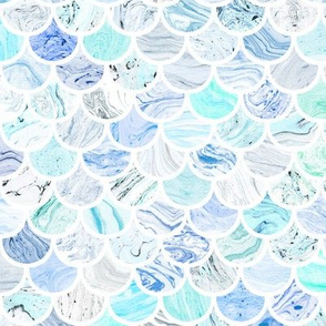 Marble Scale Pattern in Blue