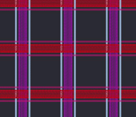 tire track tartan dark grey fabric by tinabriggs on Spoonflower - custom fabric