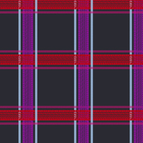 tire track tartan dark grey