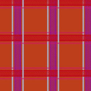 tire track tartan burnt orange