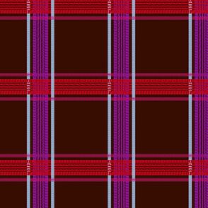 tire track tartan chocolate