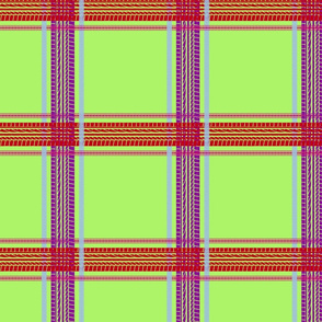tire track tartan lime green