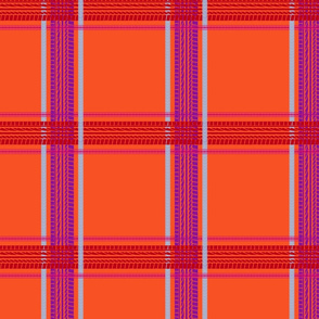 tire track tartan orange