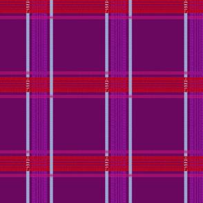 tire track tartan purple