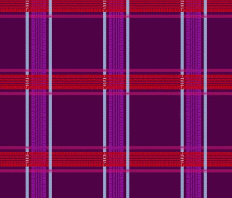 tire track tartan plum fabric by tinabriggs on Spoonflower - custom fabric