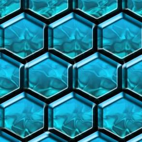 Crystal Blue Beehive
