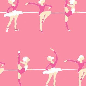 Ballet dancers pink small