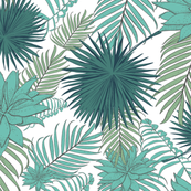 Tropical Pattern from palm leaves and aloe