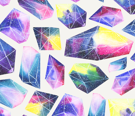 Cosmic crystals fabric by nadispasibenko on Spoonflower - custom fabric