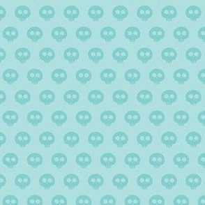 Aqua Skull Dot 1