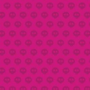Fuchsia Skull Dot 1