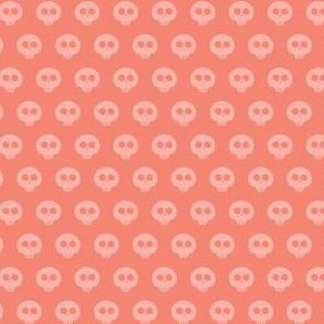 Peach Skull Dot 1
