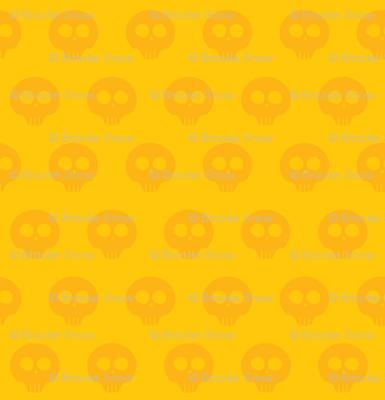 Sunflower Skull Dot 1