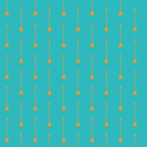 long Aarrows - Orange on Teal - Summer Woodland - Baby