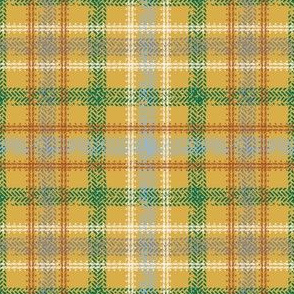 Bike Tread Plaid (mustard)