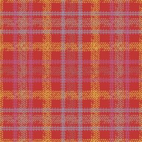 Bike Tread Plaid (red)