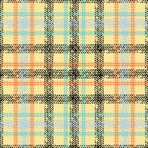 Bike Tread Plaid (lemon)
