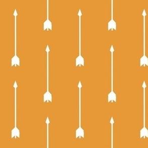 Long Arrows - White on Orange - Summer Woodland - Baby Nursery