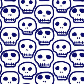 Painted Blue Skulls