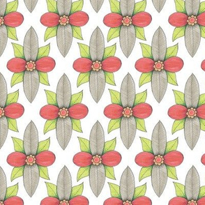 floral leafy diamond pattern