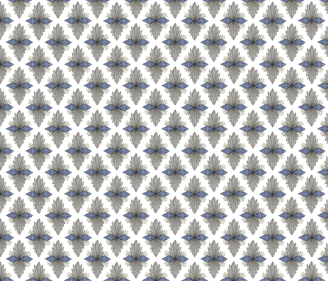 decorative diamond shape pattern fabric by swoldham on Spoonflower - custom fabric