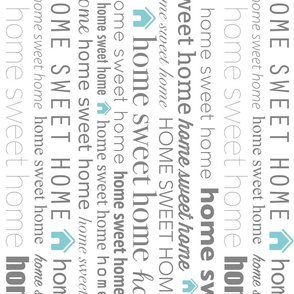 Home Sweet Home Tea Towel with Text