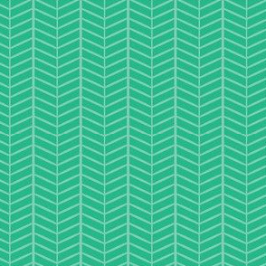 Mint Herringbone Chevron