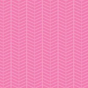 Bubblegum Herringbone Chevron