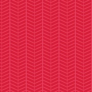 Cherry Herringbone Chevron
