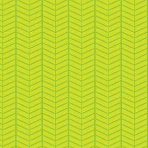 Lime Herringbone Chevron