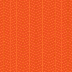 Orange Herringbone Chevron