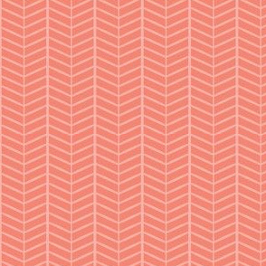 Peach Herringbone Chevron