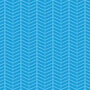 Sky Herringbone Chevron